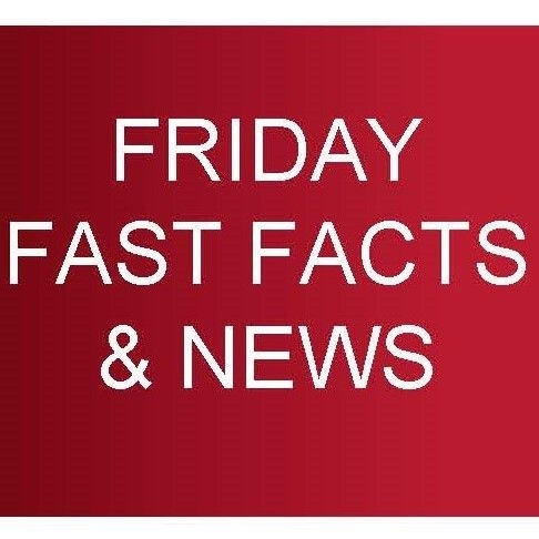 Friday Fast Facts Volume 186, dated Friday 31st May 2910